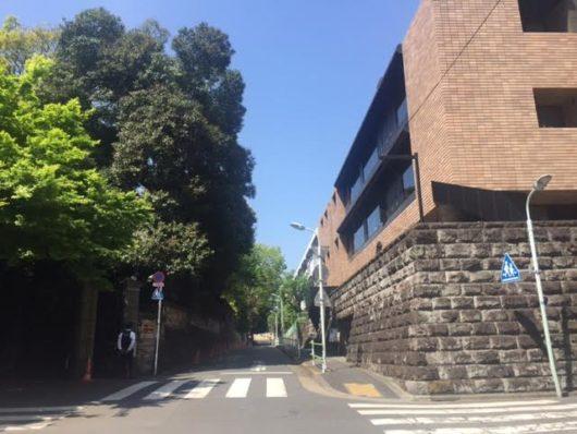 イタリア大使館側道