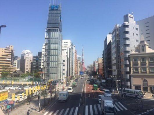 東京タワー(札の辻歩道橋から)