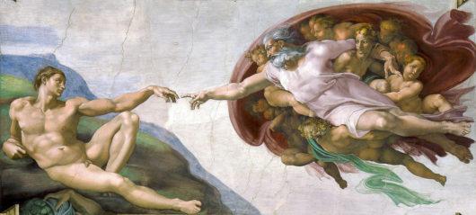 アダムの創造(部分) ミケランジェロ(システィーナ礼拝堂)