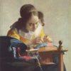 レースを編む女(ルーブル美術館、フェルメール)