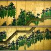 八橋図屏風(メトロポリタン美術館、尾形光琳)