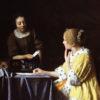 婦人と召使(フリックコレクション、フェルメール)