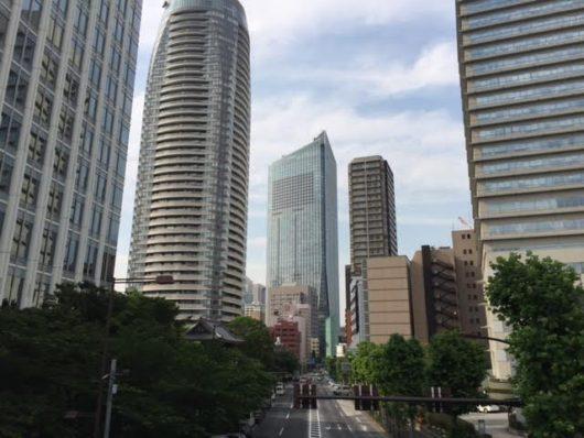 虎ノ門ヒルズ(愛宕グリーンヒルズ前歩道橋より)