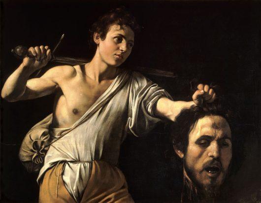 ゴリアテの首をもつダビデ(美術史美術館、カラヴァッジョ)