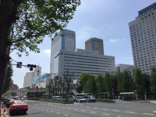 京急第1ビル(Wingが一部)と品川プリンスホテル