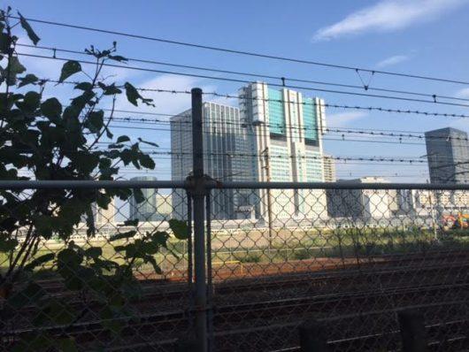 山手線新駅予定地(2016年8月17日)