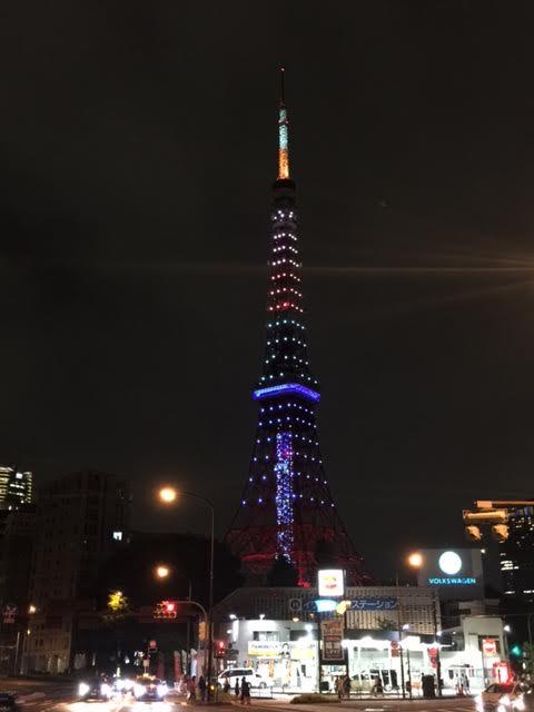 東京タワー(リオ・オリンピック)