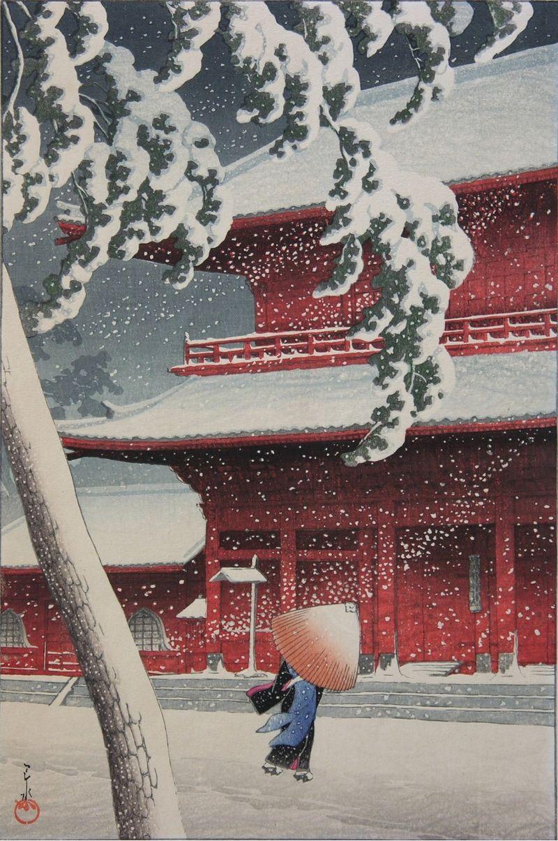 川瀬巴水 木版画展 松坂屋上野店で今年も開催(2016年11月30日-12月6日)