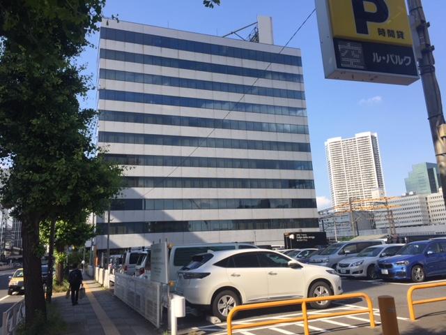 山手線新駅開業に向けての記録(20)高輪センタービルと隣接する駐車場