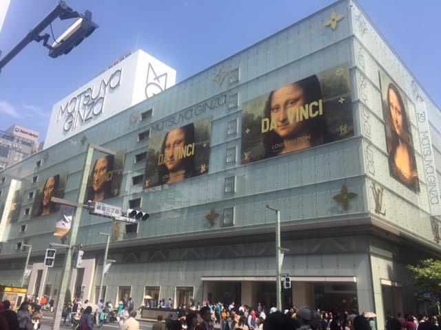 松屋銀座 x ルイ・ヴィトン(Louis Vuitton)の広告が圧巻!GINZA SIX (キンザシックス)に負けるな!