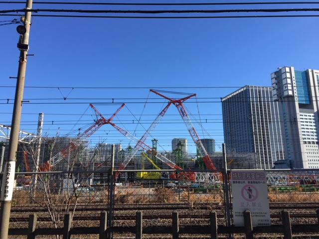 山手線新駅開業に向けての記録(15) 2017年12月末時点建設状況